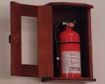 квартирный пожарный шкаф для огнетушителя