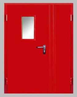 Двери противопожарные НПО Пульс: двухпольные и однопольные