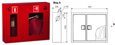навесной шкаф пожарный ШПК 315 НПО Пульс