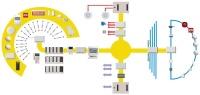 схема работы радиоканальной беспроводной пожарной сигнализации Стрелец