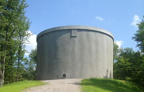 Железобетонный монолитный пожарный резервуар