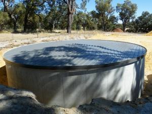 железобетонная емкость хранения противопожарного запаса воды