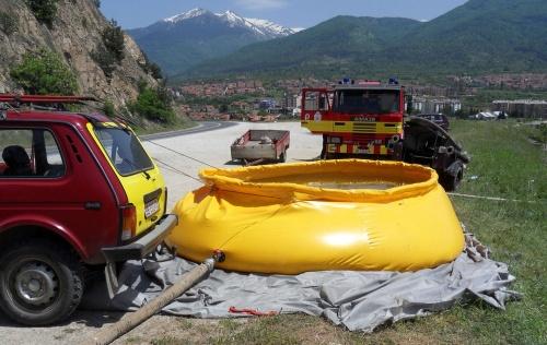 Эластичные пожарные резервуары из полиэтилена