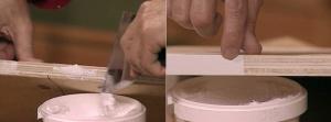 нанесение мастики на фанеру