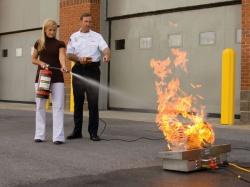 тренировка использования средств первичного тешения огня