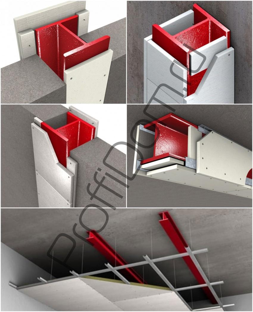 конструктивная противопожарная защита металлических конструкций