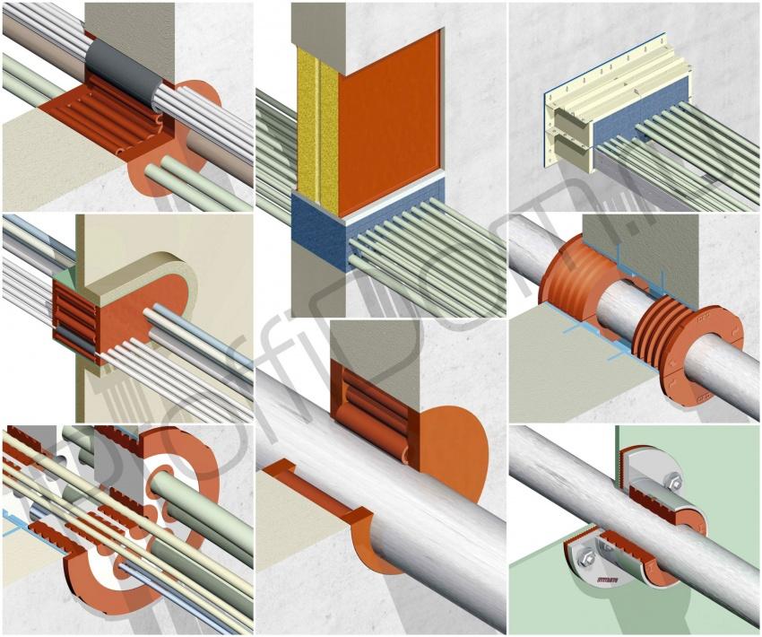 виды огнестойких проходных узлов для кабелей