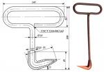 чертеж крюка для открытия люков пожарных гидрантов