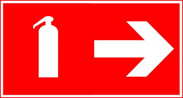 знак огнетушитель F04 с указателем F01