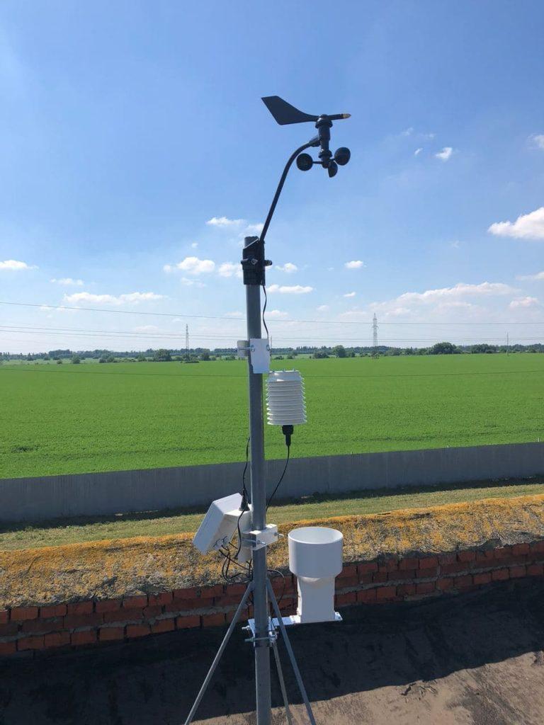 Погодная метеостанция с беспроводным датчиком