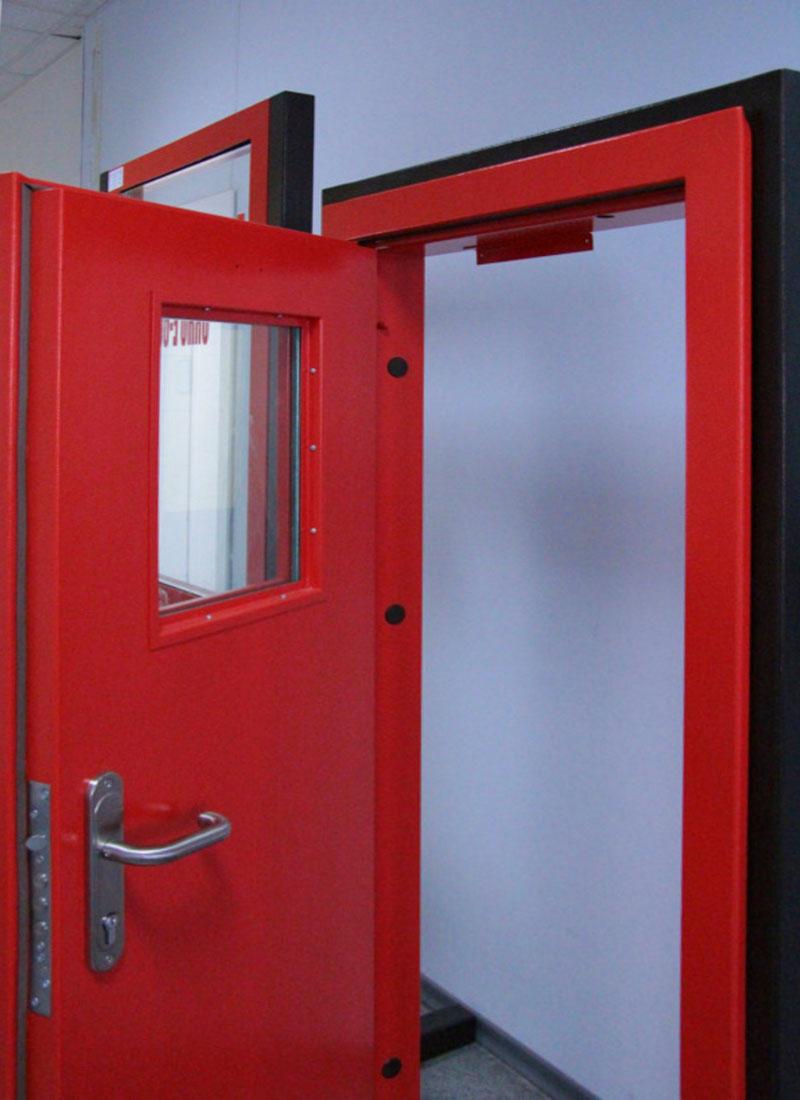 дверь противопожарная железная с порошковой окраской