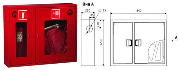 Кран пожарный шпк-пульс-320 н в комплекте:
