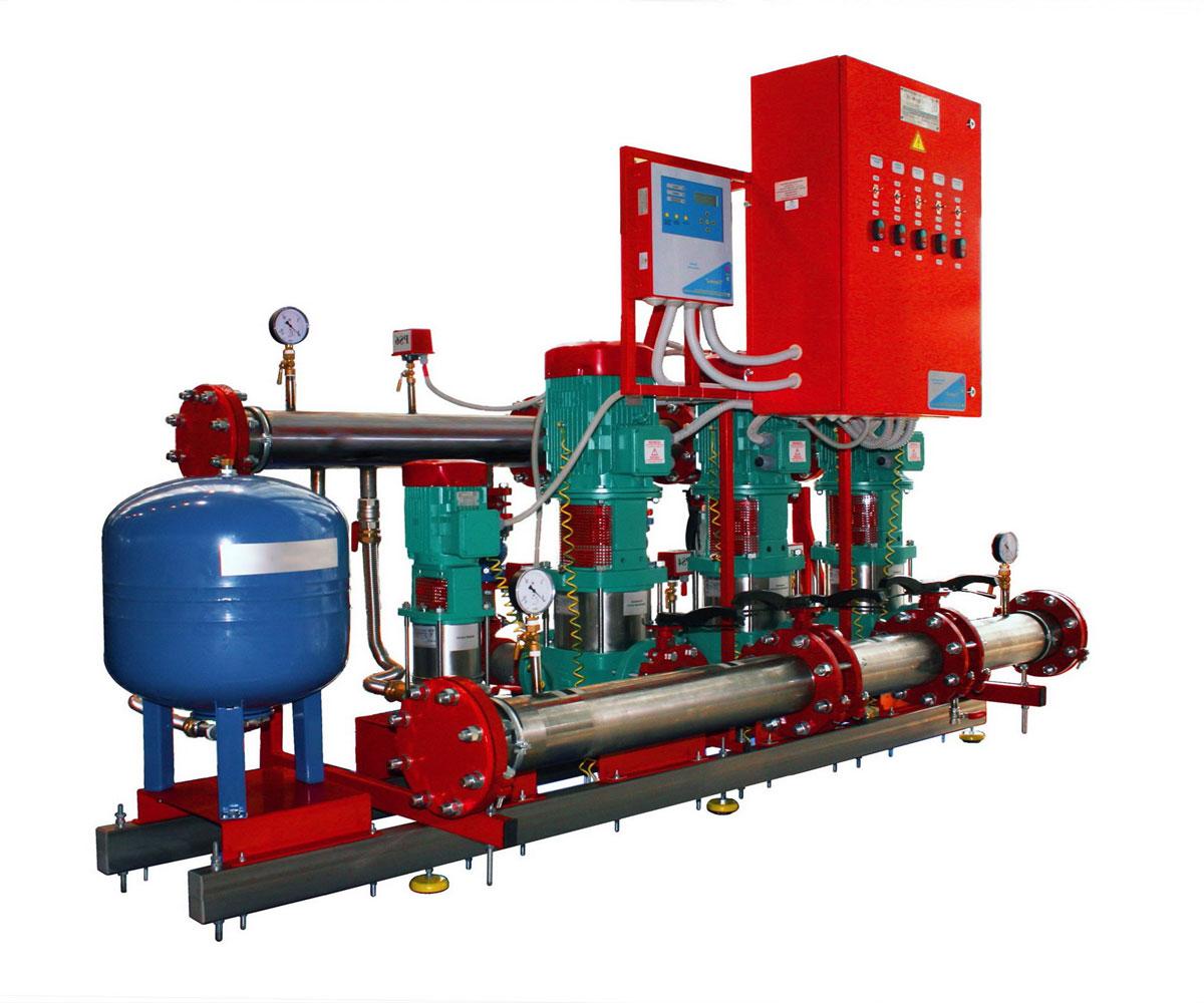 дренчерная система пожаротушения схема