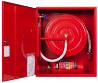навесной внутриквартирный шкаф с пожарным шлангом