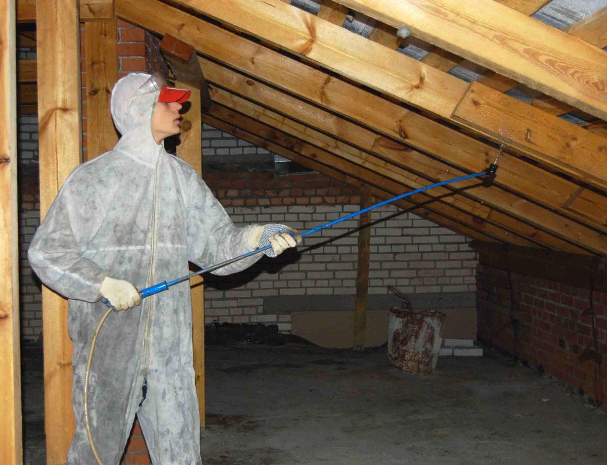 Protipožarna zaščita lesenih konstrukcij strešne strehe
